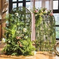"RusticReach Handmade Artificial Flower Screen in Various Designs 40"" Tall"