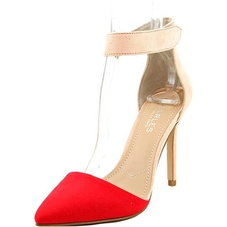 Charles By Charles David Pointer Women Pointed Toe Synthetic Red Slingback Heel