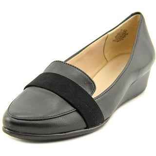 Easy Spirit Adalynn Women Pointed Toe Leather Black Flats