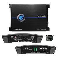 Planet Audio TR2500.1M Torque 2500 Watt, 2 Ohm Stable Monoblock Car Amplifier with Remote Subwoofer Control