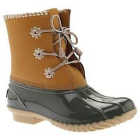 Jack Rogers Women's Chloe Duck Boot Olive Leather/Rubber