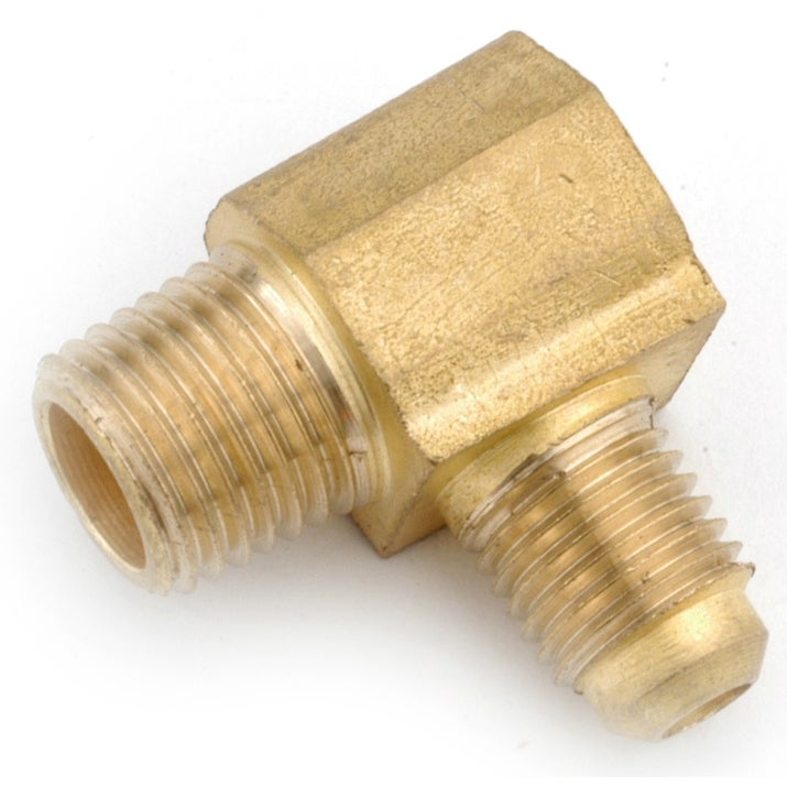 Anderson Metals 754049-0402 Lead Free Elbow, Brass, 1/4 Flare x 1/8 MPT