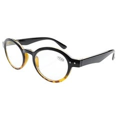 Eyekepper Spring Hinges Round Retro Two Tone Readers Reading Glasses +3.00