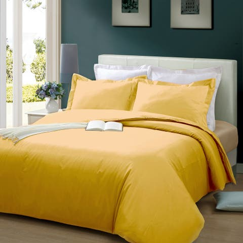 Solid 300 Thread Count 3-piece Duvet Cover Set