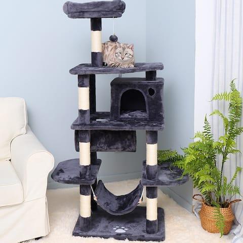 Cat Tree Condo Furniture Kitten Activity Tower Pet Kitty Play House