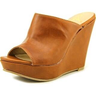 American Rag Sloan Women Open Toe Synthetic Tan Wedge Sandal