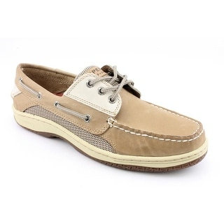 Sperry Top Sider Billfish 3 Eye Men W Moc Toe Leather Beige Boat Shoe