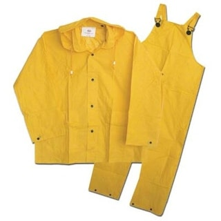 Boss 3PF2000YL Rain Suit Large, 20 Mil, Yellow