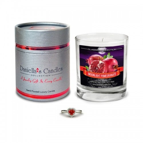 Moonlight Pomegranate Surprise Jewelry Candle