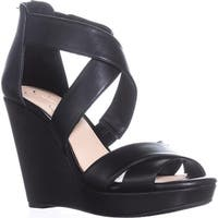 Jessica Simpson Jadyn Strappy Wedge Sandals, Black