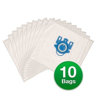Replacement For Miele Type FJM Plastic Collar Vacuum Bags 7291640A / C205 - 2 Pack