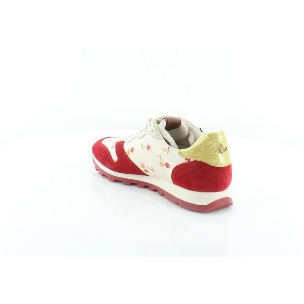 Coach Uni Women/'s Fashion Sneakers Ivory//Red