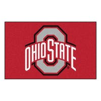 NCAA Ohio State University Buckeyes Ulti-Mat Rectangular Area Rug