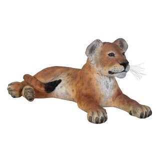 Design Toscano The Grand-Scale Lion Cub Statue: Lying Down