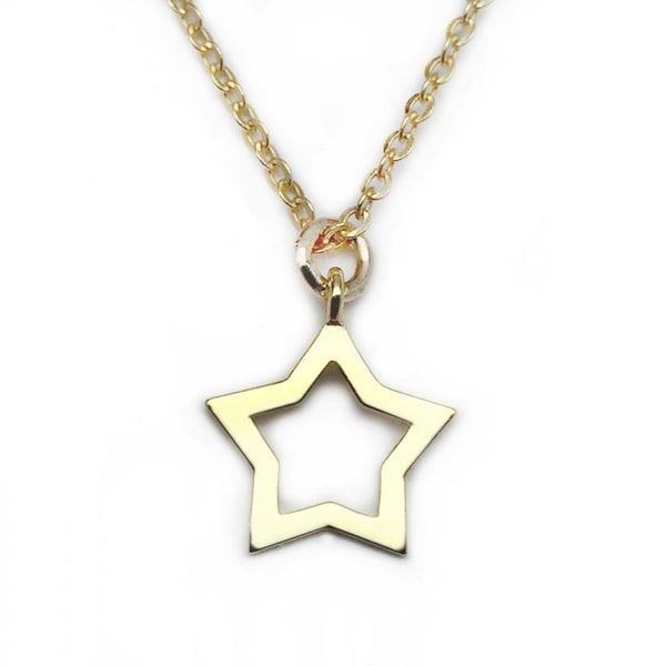 """Julieta Jewelry Star Gold Charm 16"""" Necklace"""