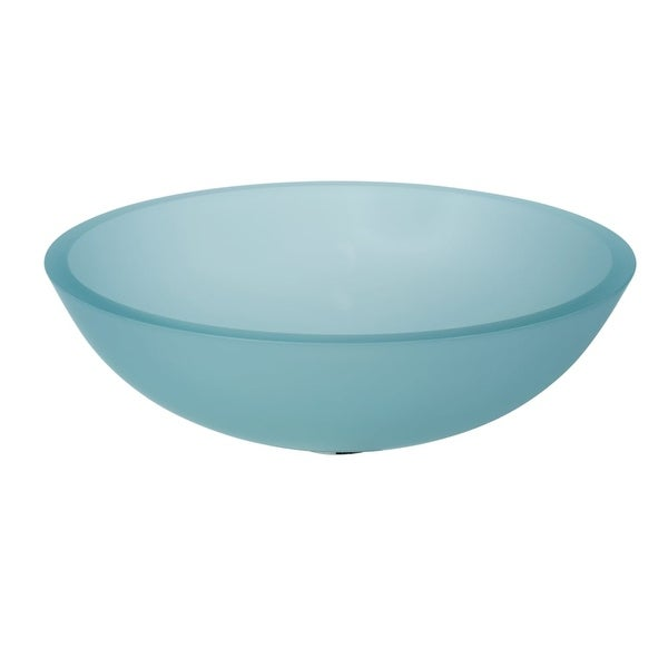 "WS Bath Collections Acquaio 53696 16-7/10"" Round Vessel Bathroom Sink from the Linea Collection"