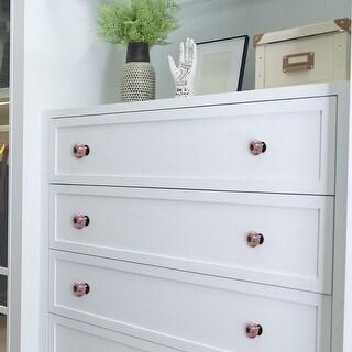 Ceramic Vintage Knob Drawer Dresser Pumpkin Handle Cupboard Wardrobe 4pcs Pink