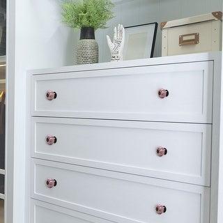 Ceramic Vintage Knob Drawer Dresser Pumpkin Handle Cupboard Wardrobe 8pcs Pink