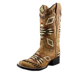 Corral E1023 Square Toe Leather Western Boot