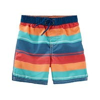 OshKosh B'gosh Baby Boys' Bathing Swim Trunks- Multi Stripe- 18 Months - mutli