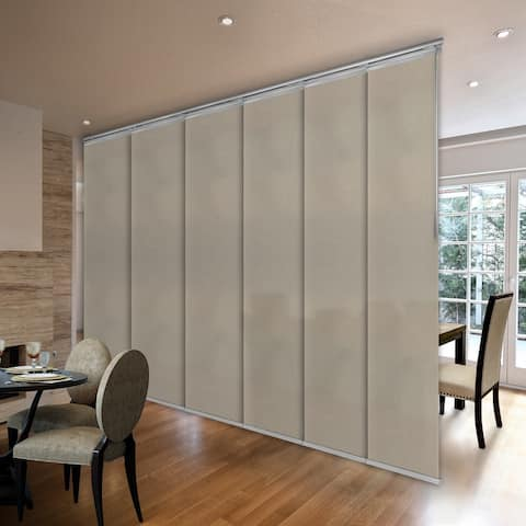 """InStyleDesign Champagne 3 to 6 Panel Single Rail Panel Track, Panel width 23.5"""""""