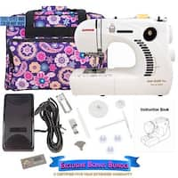 Janome Jem Gold Plus 661G Trim- Stitch Sewing Machine + Bundle