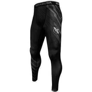 Hayabusa Metaru Charged Full Length MMA Compression Pants - Black/Gray