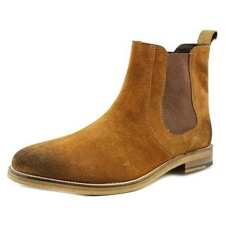 Crevo Denham Men Round Toe Suede Brown Ankle Boot