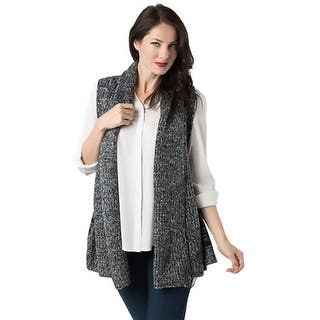 Look Womens Casual Vest Striped Shawl Collar - o/s|https://ak1.ostkcdn.com/images/products/is/images/direct/f6cf71e9bab1914dd206cdf5beec733a253cb837/Look-Womens-Casual-Vest-Striped-Shawl-Collar.jpg?impolicy=medium