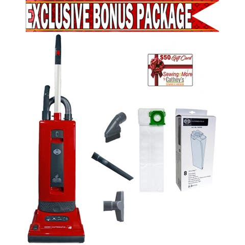 Sebo 9558AM Automatic X4 Red Upright Vacuum w/ Exclusive Bonus Package!