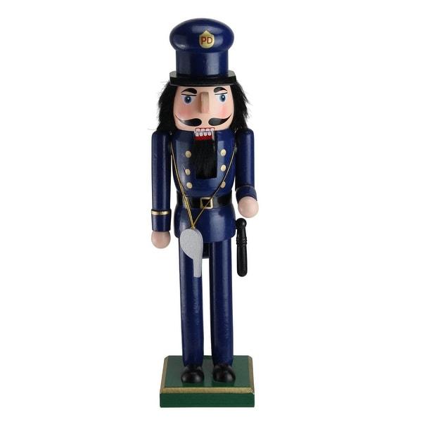 "14"" Decorative Wooden Christmas Nutcracker Police Officer"