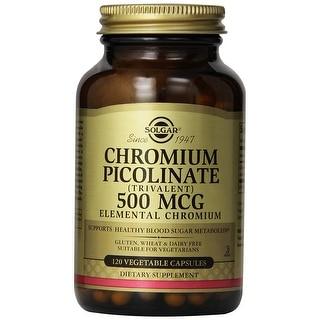 Solgar Chromium Picolinate 500 Mcg (120 Vegetable Capsules)