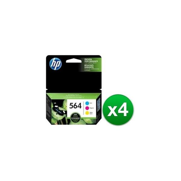 HP 564 Multi Color Original 3 Ink Cartridges (N9H57FN)(4-Pack)