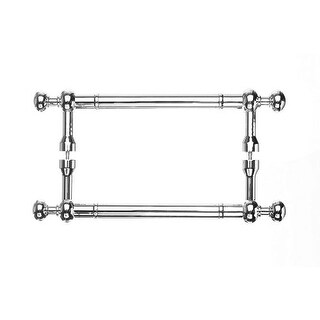 Top Knobs M829-8pair Somerset Collection 8 Inch Center to Center Polished Brass Weston Back to Back Door Pull Pair