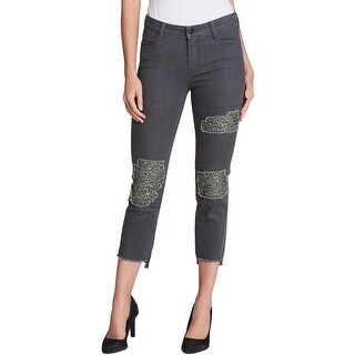 DKNY Womens Skinny Jeans Cropped Mid-Rise