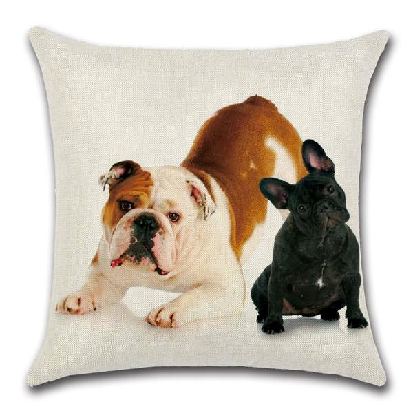 Cute Black And White French Bulldog Decorative Throw Pillow Cover 18 X 18 On Sale Overstock 31456220