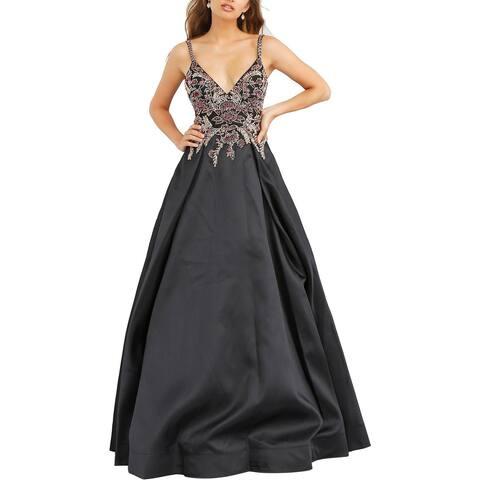 Jovani Plus Embellished Prom Formal Dress - Black Multi - 20