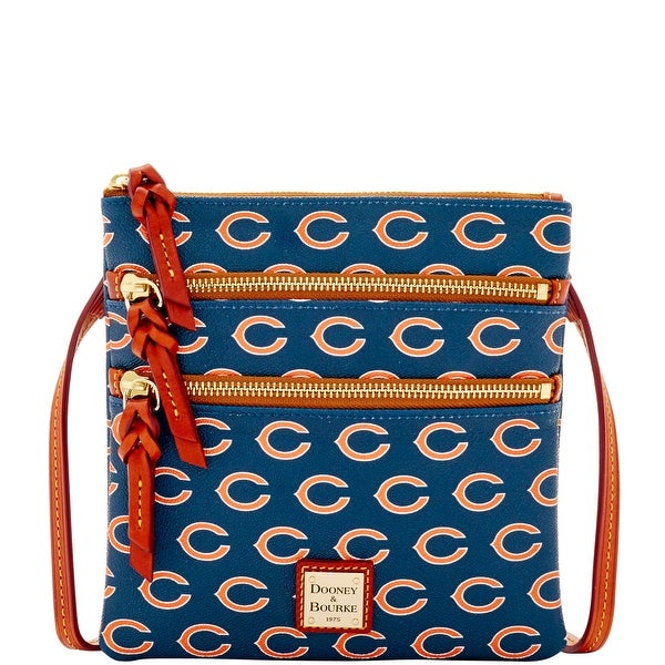 7c8ad13466c Dooney & Bourke NFL Chicago Bears Triple Zip Crossbody Shoulder Bag  (Introduced by Dooney