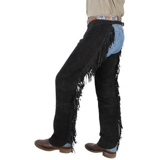 Tough-1 Western Chaps Adult Contour Suede Fringed Adjustable