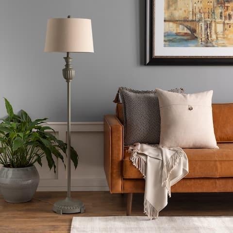 "Aldon Classic Grey Urn 59-inch Floor Lamp - 59""H x 15""W x 15""D"