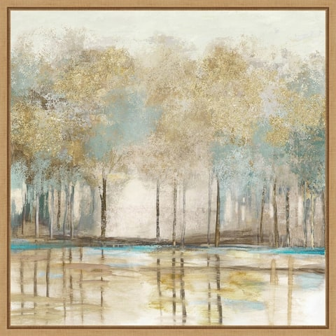 Woodlot I (Trees) by Allison Pearce Framed Canvas Art