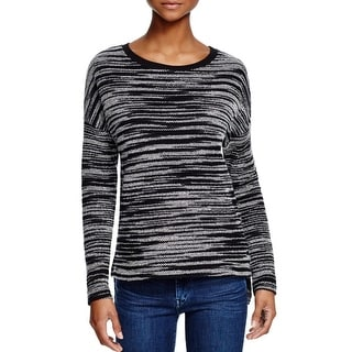 Three Dots Womens Marilyn Pullover Sweater Striped Long Sleeve