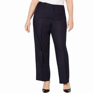 Nine West Women's Pants Black Size 14W Plus Dress Lightweight Solid