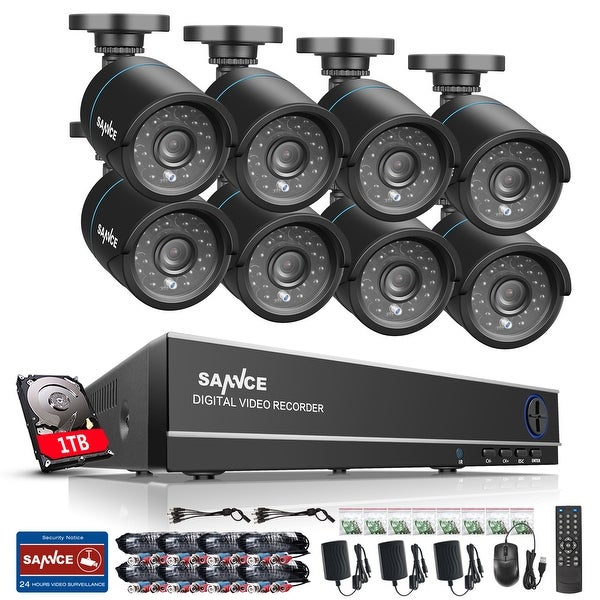 SANNCE 8CH 720P HD Video Security Cameras System with 1TB HD