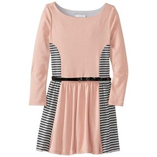 Rare Editions Girls Metallic Striped Casual Dress