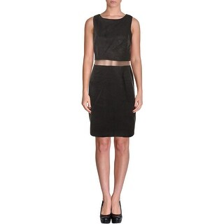 Bailey 44 Womens Cocktail Dress Faux Suede Mesh Inset