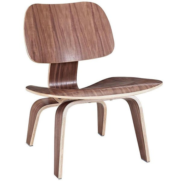 2xhome - Plywood Lounge Chair Wood Chair Plywood Low Lounge Chair for Living Room Wood Chair Accent Walnut