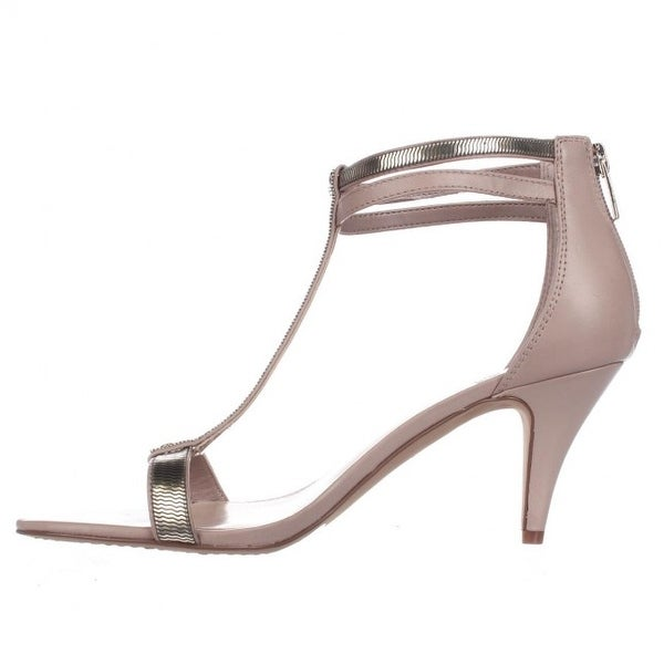 Vince Camuto Womens Makoto Leather Open Toe Casual T-Strap Sandals