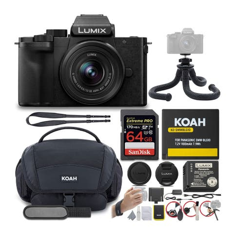 Panasonic LUMIX G100 Mirrorless Vlogging Camera w/ 12-32mm Lens Bundle