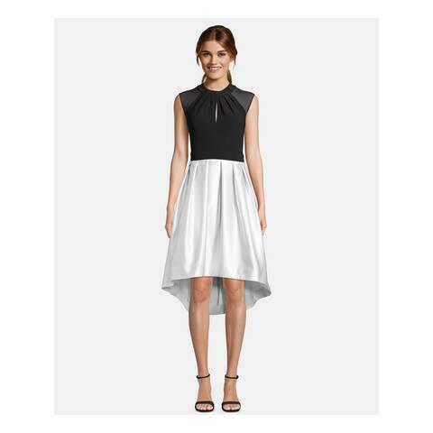 BETSY & ADAM Womens Black Cap Sleeve Midi Hi-Lo Formal Dress Size 6